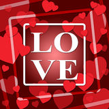 Love Hearts Represents Valentines Day And Devotion Stock Image