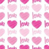 Love & Hearts Scribbles Seamless Tile