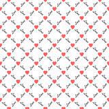 Love hearts seamless pattern stock photography