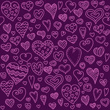 Love hearts seamless pattern. Doodle heart. Romantic background. Vector illustration Royalty Free Stock Image