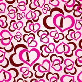 Love hearts seamless pattern Stock Photo