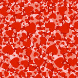 Love hearts seamless pattern Stock Images