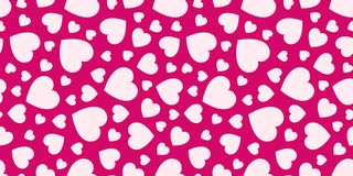 Love hearts seamless pattern. Valentine`s Day background. Romantic repeated texture for greeting cards, invitation and holiday vector illustration