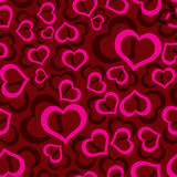 Love hearts seamless red pattern eps10 Stock Photos