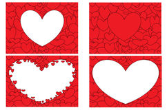 Love Hearts set Royalty Free Stock Images