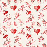 Love hearts sketch hand drawn Royalty Free Stock Image