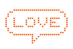 Love Hearts Speech Bubble Stock Photography