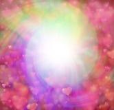Love hearts swirling background border stock illustration