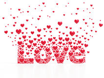 Love from hearts Stock Image
