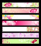 Love & Hearts Website Banners / Vector / Set 2 Stock Photography