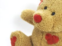 Love heat teddy bear Royalty Free Stock Images