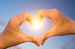 Love from heaven Royalty Free Stock Photo