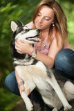 Love her dog Royalty Free Stock Images