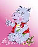 In love hippopotamus royalty free illustration