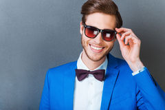 In love with his style. Royalty Free Stock Image