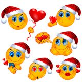 Love History on Christmas. Isolated Romantic Smiley Faces royalty free illustration