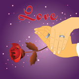Love holding hand Royalty Free Stock Photos