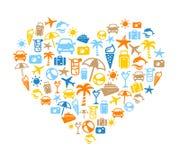 We Love Holidays! - Summer Background Royalty Free Stock Image