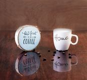 Love home Coffee Cup. royalty free stock photo