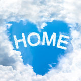 Love home concept tell by shy cloud nature Royalty Free Stock Photos