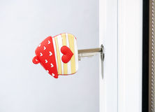 Love home door key Stock Photography