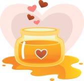 Love Honey. Illustration of Love honey jar Stock Photos