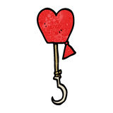 Love hooked cartoon symbol Stock Images