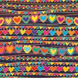 Love Horizontal Connect Line Style Seamless Pattern Stock Photos