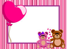 Love Horizontal Frame Teddy Bears Royalty Free Stock Photo