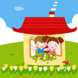 Love house. Illustration of a cute love house Stock Photography