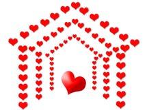 Love house royalty free stock photos