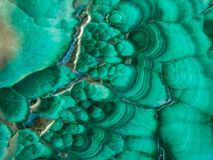Close View of Green Malachite stock image