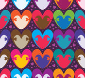 Love hug color symmetry seamless. This illustration is design abstract love hug with loves purple color background and seamless pattern royalty free illustration