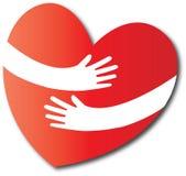 Love hug heart Stock Photo