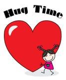Love hug time greeting celebration Stock Image