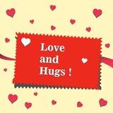 Love and hugs Stock Photos
