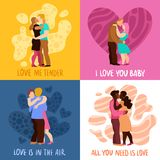 Love Hugs Design Concept Royalty Free Stock Photo