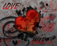 Love hurts. Background image of a representation of heartbreak Stock Image