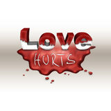 Love hurts background Royalty Free Stock Image