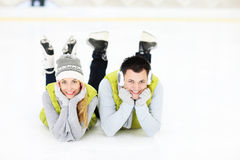 We love ice skating! Stock Photo