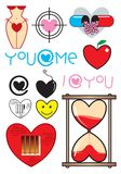 Love icon. Sweet heart icon set for love and valentine Royalty Free Stock Images