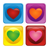 Love icon. Love sticker design design illustration with green, red, pink, orange color Stock Photo