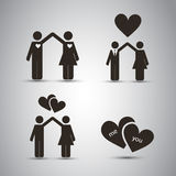 Love - Icon Designs Royalty Free Stock Photo