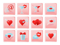 Love icon set Stock Photo