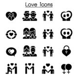Love icon set. Vector illustration graphic design stock illustration