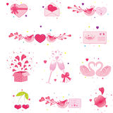 Love icon set Royalty Free Stock Photo