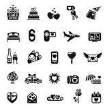 Love icon set Stock Images