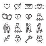 Love icon set. Vector eps10. Royalty Free Stock Photo