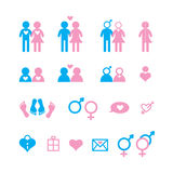 Love icon set Royalty Free Stock Images