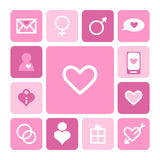 Love icon set Royalty Free Stock Photos